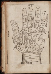 Fig. 2: 17th century palmistry chart. Courtesy of ridiculouslyinteresting.com.