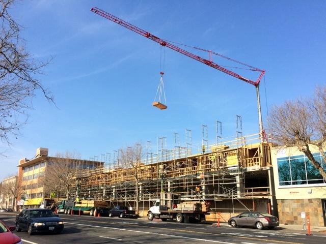 construction crane in Oakland
